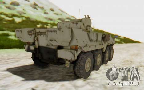 MGSV Phantom Pain STOUT IFV APC Tank v2 für GTA San Andreas linke Ansicht