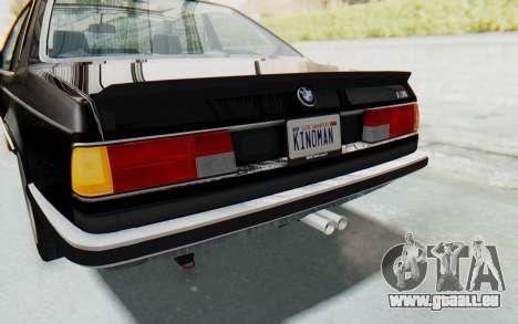 BMW M635 CSi (E24) 1984 IVF PJ3 pour GTA San Andreas salon