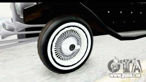 Unique V16 Phaeton VIP pour GTA San Andreas vue arrière