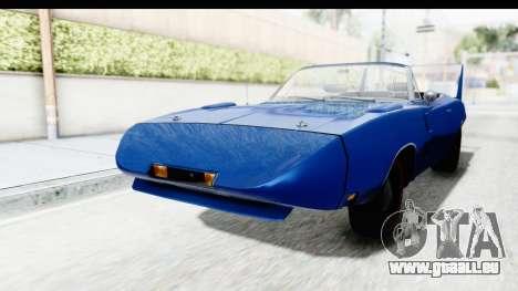 Dodge Charger Daytona 1969 Cabrio für GTA San Andreas rechten Ansicht