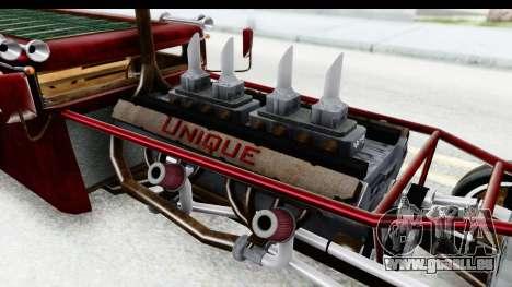Unique V16 Fordor Ratrod pour GTA San Andreas vue intérieure