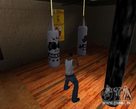 Poire De Boxe pour GTA San Andreas quatrième écran