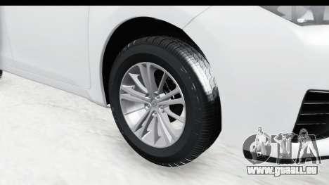 Toyota Corolla 2015 für GTA San Andreas Rückansicht