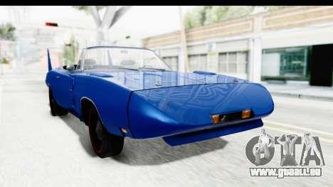 Dodge Charger Daytona 1969 Cabrio pour GTA San Andreas