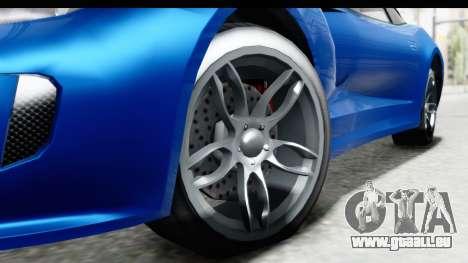 GTA 5 Grotti Bestia GTS pour GTA San Andreas vue arrière