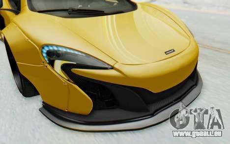 McLaren 650S Spyder ZenWorks für GTA San Andreas Innen