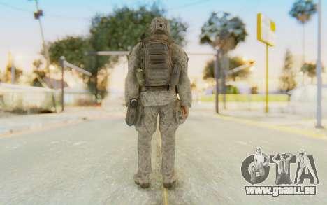 CoD MW2 Ghost Model v4 pour GTA San Andreas troisième écran
