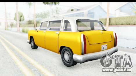 Cabbie London für GTA San Andreas zurück linke Ansicht