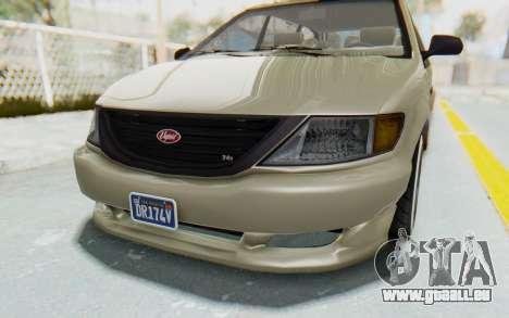 GTA 5 Vapid Minivan Custom without Hydro IVF pour GTA San Andreas vue de côté