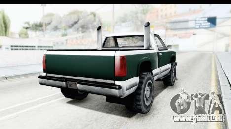 Yosemite Truck für GTA San Andreas rechten Ansicht