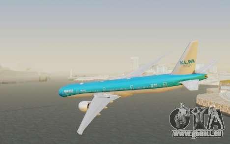 Boeing 777-300ER KLM - Royal Dutch Airlines v2 pour GTA San Andreas laissé vue
