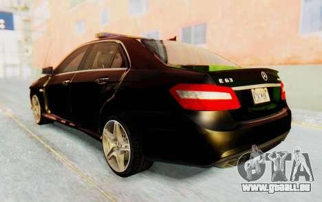 Mercedes-Benz E63 German Police Green pour GTA San Andreas laissé vue