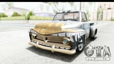 GTA 5 Vapid Slamvan Custom pour GTA San Andreas vue de dessous