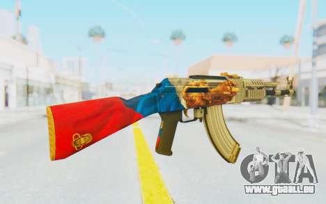 AK-47A1 Russian Flag für GTA San Andreas dritten Screenshot