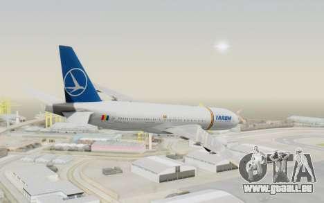 Boeing 777-200 TAROM Romania für GTA San Andreas linke Ansicht