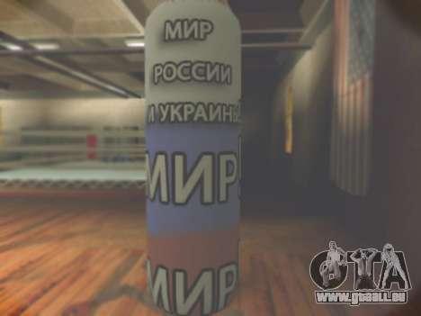 La poire avec inscription monde, de la Russie et pour GTA San Andreas deuxième écran