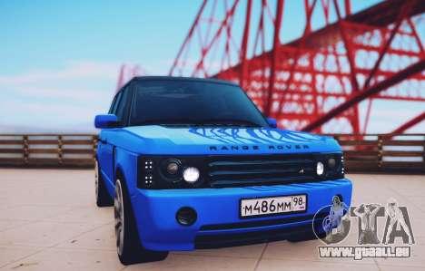 Range Rover Sport Pintoresca pour GTA San Andreas sur la vue arrière gauche