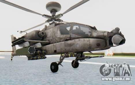 AH-64 Apache Desert pour GTA San Andreas vue de droite