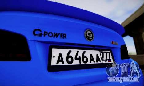 BMW M5 F10 G-Power für GTA San Andreas rechten Ansicht