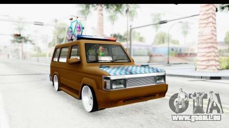 Toyota Kijang Grand Extra with Bike pour GTA San Andreas