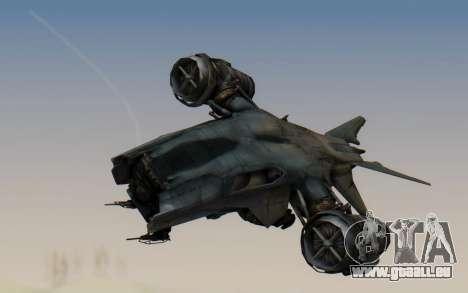 HK Aerial from Terminator Salvation für GTA San Andreas zurück linke Ansicht