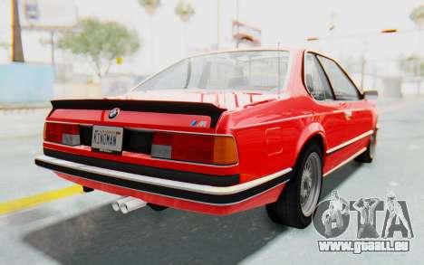 BMW M635 CSi (E24) 1984 IVF PJ2 für GTA San Andreas zurück linke Ansicht