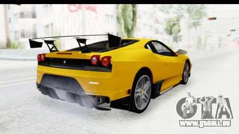 Ferrari F430 SVR pour GTA San Andreas laissé vue