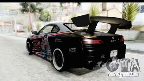 Nissan Silvia S15 Itasha pour GTA San Andreas laissé vue