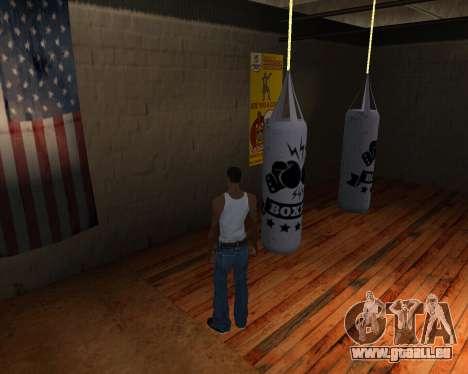 Poire De Boxe pour GTA San Andreas troisième écran