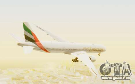 Boeing 777-300ER Emirates für GTA San Andreas rechten Ansicht