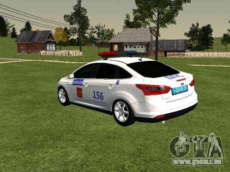 Ford Focus ДПС pour GTA San Andreas laissé vue