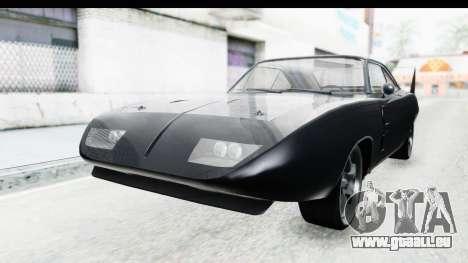 Dodge Charger Daytona F&F pour GTA San Andreas vue de droite