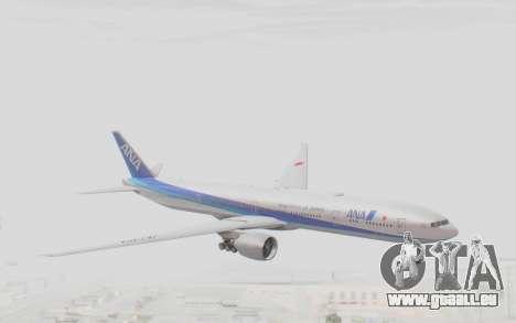 Boeing 777-300ER ANA JA735A pour GTA San Andreas sur la vue arrière gauche