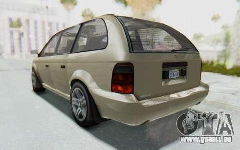 GTA 5 Vapid Minivan IVF pour GTA San Andreas laissé vue