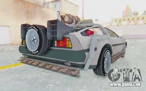 DeLorean DMC-12 2012 End Of The World pour GTA San Andreas vue de droite