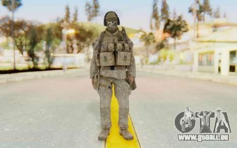 CoD MW2 Ghost Model v2 pour GTA San Andreas deuxième écran