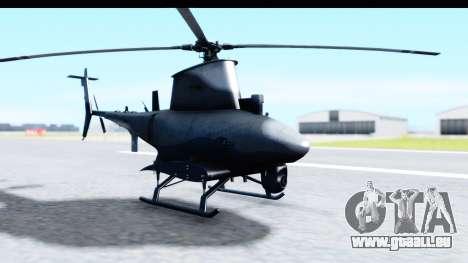 Northrop Grumman MQ-8B Fire Scout pour GTA San Andreas sur la vue arrière gauche