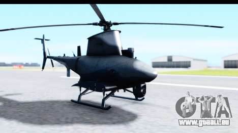 Northrop Grumman MQ-8B Fire Scout für GTA San Andreas zurück linke Ansicht