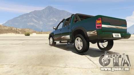 GTA 5 2011 Chevrolet S-10 Rodeio vue arrière