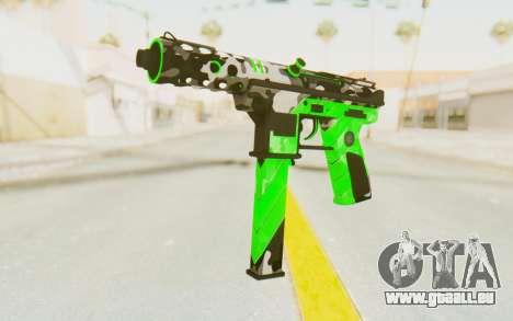 Tec-9 Neural Green für GTA San Andreas