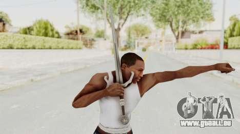 The Witcher 3: Wild Hunt - Sword v2 pour GTA San Andreas troisième écran