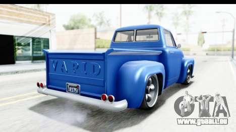 GTA 5 Vapid Slamvan without Hydro IVF pour GTA San Andreas laissé vue