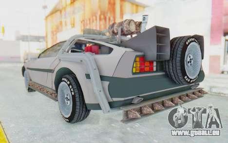 DeLorean DMC-12 2012 End Of The World für GTA San Andreas linke Ansicht