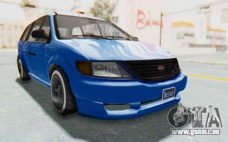 GTA 5 Vapid Minivan Custom für GTA San Andreas rechten Ansicht