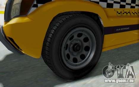 Canis Seminole Taxi pour GTA San Andreas vue arrière
