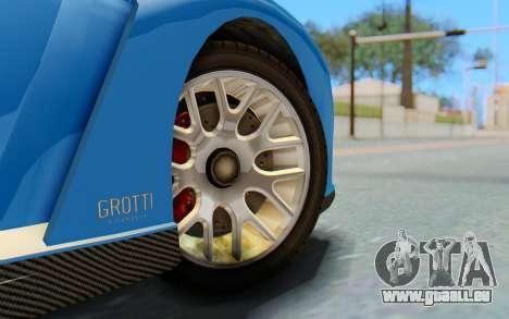 GTA 5 Grotti Cheetah SA Lights pour GTA San Andreas vue de droite