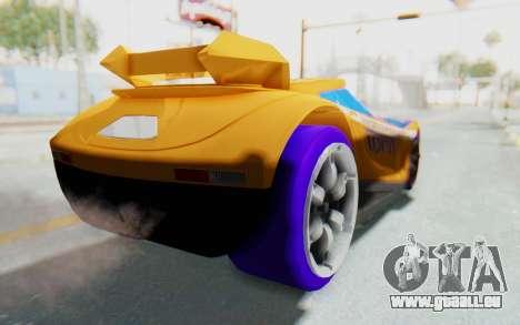 Hot Wheels AcceleRacers 4 pour GTA San Andreas sur la vue arrière gauche
