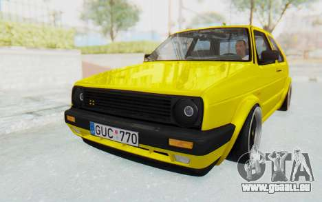 Volkswagen Golf Mk2 Lemon pour GTA San Andreas