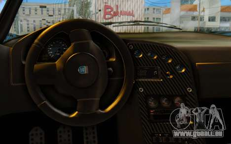 GTA 5 Grotti Cheetah SA Lights für GTA San Andreas Rückansicht