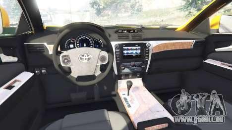 GTA 5 Toyota Camry V50 rechte Seitenansicht